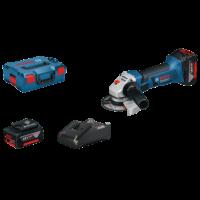 Bosch GWS 18-125 V-Li Akkumulátoros sarokcsiszoló 2 x 4.0Ah + L-Boxx