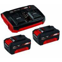 Einhell Akku Power-X 18V 2 x 3,0Ah akku + Twincharger gyors töltő (4512083)