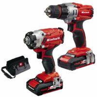 Einhell TE-TK 18 Li Drill & Driver Kit Akkus csavarozó szett (4257210)