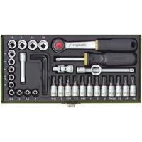 """Proxxon 23080 Racsnis Kulcskészlet 36 részes 4-13mm ( 1/4"""" )"""