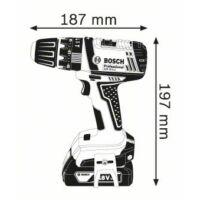 Bosch GSB 18-2-LI Akkus Ütvefúró-Csavarozó 2x 1,5 Ah + táska