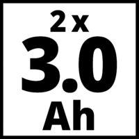 Einhell Power-X Change 2x3,0Ah 18V akku + 30 perces PXC gyorstöltő (4512098)
