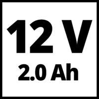 Einhell TE-CD 12/1 Li (2x2,0 Ah) 12V Akkus fúró-csavarozó (4513594)