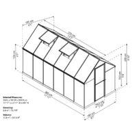 Palram Multiline 6X12 Polikarbonát üvegház (701781)