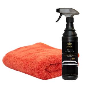 LOTUS Premium Plus Drying towel Autó törülköző + üvegtisztító 600ml