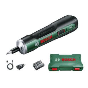Bosch Push Drive 3,6V Akkus Csavarhúzó +32db-os Bit készlet (06039C6020)