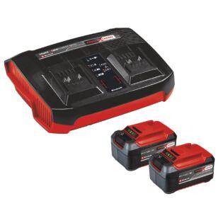 Einhell Akku Power-X 18V 2 x 5,2Ah + iker gyorstöltő (4512108)