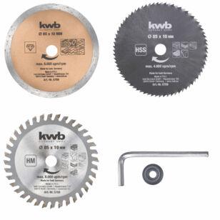 Kwb mini Körfűrészlap Szett 3db-os (575905)