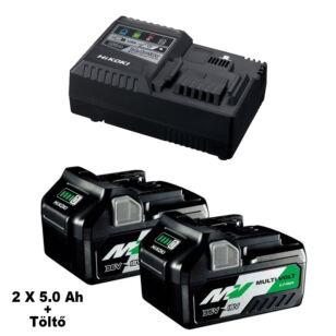 Hikoki BSL 36A18 Multi Volt Akkumulátoros szett 2 x 5.0Ah + töltő