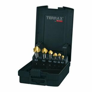 RUKO Terrax 6,3-20,5 HSS-Ti Kúpsüllyesztő felsőmaró készlet 6db-os