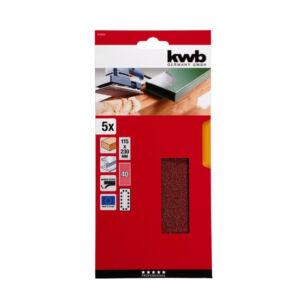 KWB Tépőzáras Csiszolópapír 115X230 K40 5db/cs. (818904)
