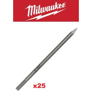 Milwaukee SDS-Max 400 mm Hegyes Végű Véső (4932399302) 25db