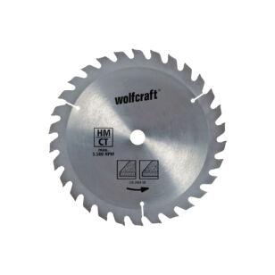 Wolfcraft Kézi körfűrészlap HM Z30 190x2,4x16mm változó fogazás