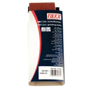Raxx Csiszolószalag 75x533mm K40 3db/csomag TC-BS 8038