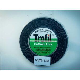 Trofil 2,7 mm 15m Twister Black Csendes Damil