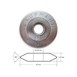 Kaufmann csempevágó kerék PROFI 22×6×4,8 mm TopLine-hoz