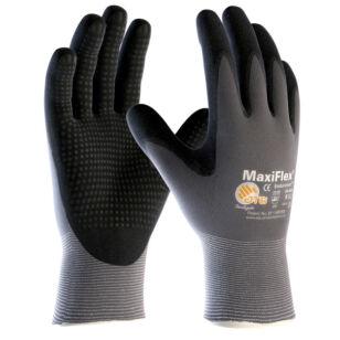 ATG Maxi Flex Plus tenyéren mártott precíziós védő/szerelő kesztyű Méret: 9