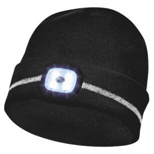 Gebol Sapka LED világítással és fényvisszaverő csíkkal Fekete