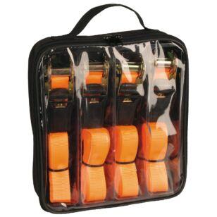 Csomagleszorító klt. 2r. 500kg 25mm/5m 4 db-os, táskában