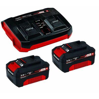 Einhell Akku Power-X 18V 2 x 3,0Ah + Gyorstöltő (4512083)