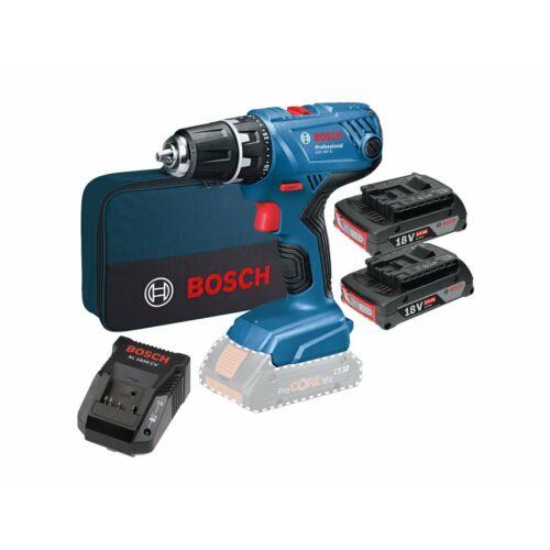 Bosch GSR 18V-21 Fúró-Csavarozó 2xGBA 2,0Ah + AL1820 Töltő