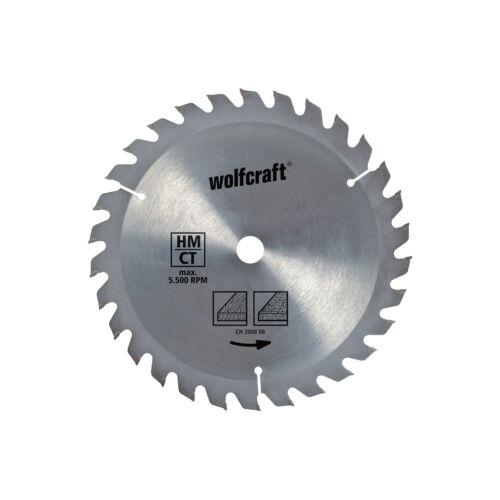 Wolfcraft Kézi körfűrészlap HM Z30 210x2,4x30mm változó fogazás